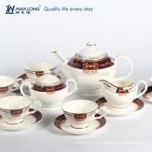 15pcs Western-Entwurfs-königlicher Art-japanischer Porzellan-Kaffee-Satz, feiner keramischer Kaffee-Satz