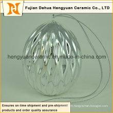 New Product Ceramic Easter Egg Shaped Pendant
