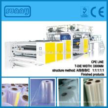 1000 bis 6000mm mehrschichtigen CPP CPE Film Gießmaschine mit T-sterben SHANTOU sonnigen Hersteller