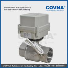 Válvula eléctrica mini 2 vías para sistema de agua / agua caliente