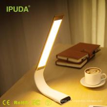 2017 promoción de exportación IPUA lámpara de mesa táctil para leer con CE FCC