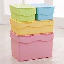 Wave Design Colorful Plastic Storage Container Box for Storage