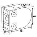 Acero inoxidable Die Casting Glass Clamp Spigot para el tubo de la barandilla (CR-053)