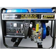 Gerador diesel do ar-Cooeld portátil monofásico da fase 2kw (2-10KW)
