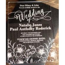High Quality OEM Design Acrylic Wedding Invitation Laser