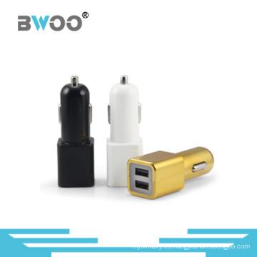 Cargador dual USB del coche de la venta al por mayor del teléfono elegante de la mezcla