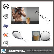 Suplemento ao bodybuilding dos ácidos aminados de cadeia ramificada de 99% Bcaa 2: 1: 1