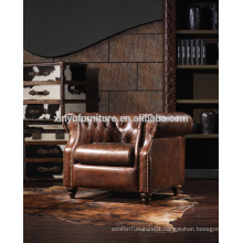 American style vintage wooden backrest sofa chair A602