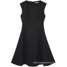Wear Knee Length Black Office Lady Dress