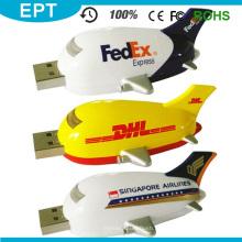 Plástico DHL avião forma flash drive USB para venda (EP080)