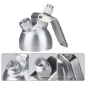 Wholesale Colorful Dessert Tools Aluminum Cream Whipper 1 Pint With and Decorative Nozzles And Holder Brush