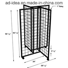2015 New Design Rotatable Metal Display with Casters