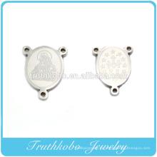 2014 patrones de corrosión diseño más vendido acero inoxidable milagro Virgen María significado religioso collar colgante