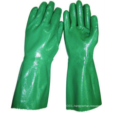 NMSAFETY industrial anti oil Heavy duty nitrile gloves long cuff safety gloves
