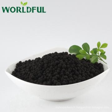 100% humate de sodium super soluble dans l'eau granulaire pour le traitement de l'eau