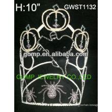 Большой Хэллоуин тыква призрак паук конкурса пользовательских горный хрусталь тиара корона -GWST1132