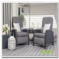 Audu 3 Pieces Black Comfort Wicker Recliner Chair