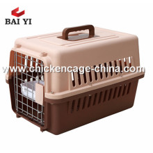 Colorful PP Material American style flight cage transport pet cage