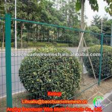 Green pvc coated temporary fence