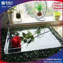 Bac acrylique transparent avec poignée