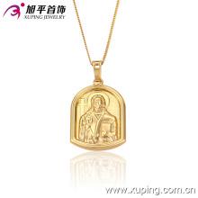 32146 moda animada humana 18k cadena de colgante de joyería de imitación dorado en cobre ambiental