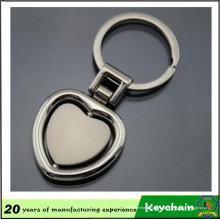 Пользовательские Сердце Логотип Спиннинг Брелок
