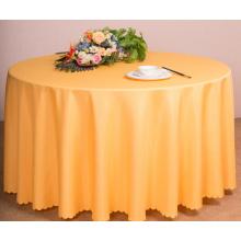 O restaurante ou o hotel usaram o pano de tabela de linho de poliéster de tabela