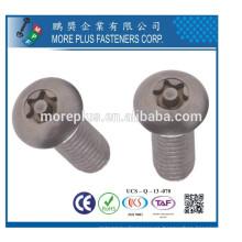 Fabricante en Taiwán Acero inoxidable Acero al carbono 6 Tornillo de la máquina del lóbulo