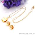 63344- Xuping Jewelry Fashion 2-piece Brass Jewelry Set with Good Quality
