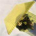feuille creuse en polycarbonate en cristal