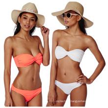 Hot sex bikini young girl swimwear beachwear pure color Triangle bikini swimwear