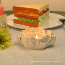 Bougeoirs en céramique de Lotus faits à la main