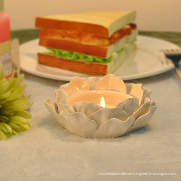 Handgemachte Lotus Keramik Kerzenhalter