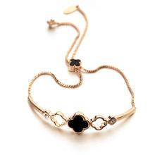 Heiße Einzelteil fördernde Kleearmband echte Oberteilausdehnungsglückklee-Armbandschmucksachen