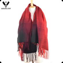 Cambio de color de las mujeres de acrílico bufanda de cachemira