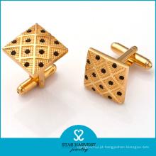 Golden Prata Custom Cufflinks Fabricante (SH-BC0002)