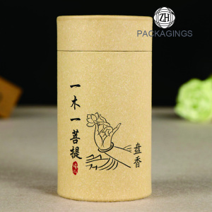 Custom logo paper tea packaging box tea tube
