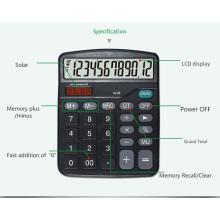 Calculadoras de 12 dígitos com bateria AA e solar