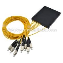 Singlemode 1x 8 ST cassete fibra óptica divisor / plc 1x 8 fibra óptica divisor