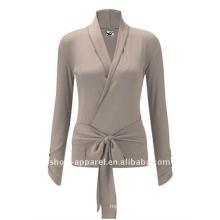 2014 Customized long sleeve yoga wear top for women