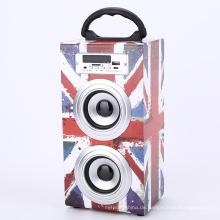 Digitales Lautsprecher-HiFi-Audiosystem aus Holz
