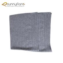 Malha de cashmere de malha com padrão de cabo