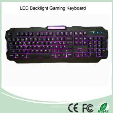 Drei verstellbare Hintergrundbeleuchtung Farben USB Wired Gaming LED Tastatur (KB-1901EL)