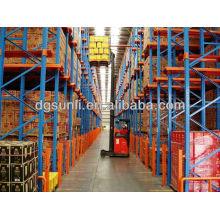 Logistische Materiallagerung Schwerlast doppelt tief Palettenregale
