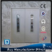 Коммерческие стальные двойные входные двери со стеклом