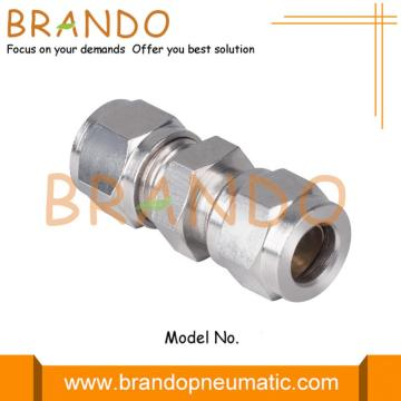 Union Straight Pneumatic Compression Ferrule Tube Fittings