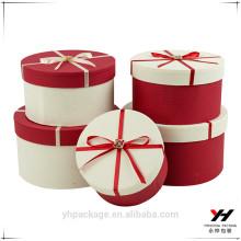 Emballage personnalisé rond boîtes en carton kraft papier pour les fleurs