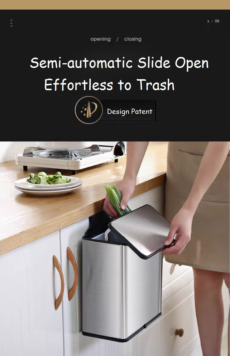 Soft Open and Close Trash Bin