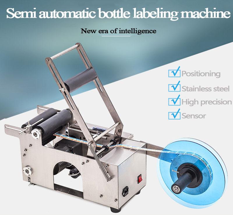 semi automatic Manual bottle labeling machine
