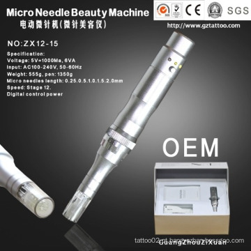 Dermapen para agulhas de microagulha elétrica automotiva (ZX12-15)